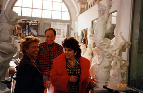 Gina Lollobrigida at Franco Cervietti's Studio